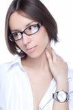 οπτική γυναίκα γυαλιών Στοκ φωτογραφία με δικαίωμα ελεύθερης χρήσης