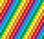 Οπτική παραίσθηση, ζωηρόχρωμος αφηρημένος διανυσματικός κύβος διανυσματική απεικόνιση