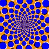 Οπτική παραίσθηση με την κίνηση των κύκλων διανυσματική απεικόνιση