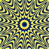 Οπτική παραίσθηση διανυσματική απεικόνιση