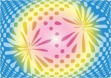 Οπτική περίληψη παραίσθησης στο γλυκό υπόβαθρο χρώματος Στοκ Εικόνα