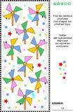 Οπτικός γρίφος - βρείτε δύο ίδια pinwheels Στοκ Εικόνες