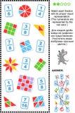 Οπτικός γρίφος math μερών εκπαιδευτικός διανυσματική απεικόνιση