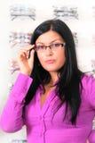 οπτικός brunette Στοκ φωτογραφίες με δικαίωμα ελεύθερης χρήσης