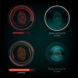 Οπτικό δακτυλικό αποτύπωμα απάντησης Στοκ φωτογραφίες με δικαίωμα ελεύθερης χρήσης