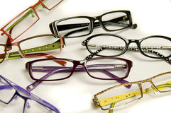 οπτικό κατάστημα γυαλιών παρουσίασης Στοκ Εικόνες
