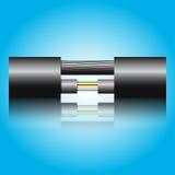 Οπτικό καλώδιο ινών Στοκ εικόνα με δικαίωμα ελεύθερης χρήσης