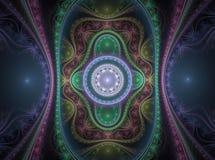 Οπτικό μεγάλο ιουλιανό Fractal 02 τέχνης απεικόνιση αποθεμάτων