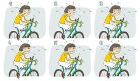 Οπτικό παιχνίδι ζευγαριών αντιστοιχιών: Ποδήλατο Στοκ Εικόνες
