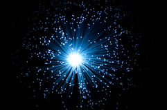 Οπτικών ινών φως Στοκ εικόνα με δικαίωμα ελεύθερης χρήσης
