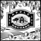 Οπωρώνας μήλων γραπτός διανυσματική απεικόνιση