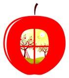 οπωρώνας μήλων ελεύθερη απεικόνιση δικαιώματος