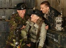 Οπλισμένοι στρατιώτες αγώνα Στοκ φωτογραφία με δικαίωμα ελεύθερης χρήσης