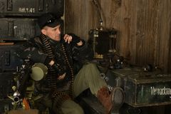 Οπλισμένος στρατιώτης αγώνα Στοκ εικόνα με δικαίωμα ελεύθερης χρήσης
