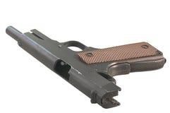 Οπλισμένο πυροβόλο όπλο που απομονώνεται στο λευκό Στοκ φωτογραφίες με δικαίωμα ελεύθερης χρήσης