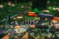Οπλοστάσιο πολεμικών πυροβόλων όπλων Στοκ φωτογραφίες με δικαίωμα ελεύθερης χρήσης