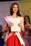 Ορέλ, Ρωσία - 20 Δεκεμβρίου 2015: Διαγωνισμός ομορφιάς της Δεσποινίσς Orel 2015 Στοκ Εικόνα