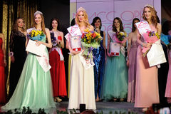 Ορέλ, Ρωσία - 20 Δεκεμβρίου 2015: Διαγωνισμός ομορφιάς της Δεσποινίσς Orel 2015 Στοκ φωτογραφίες με δικαίωμα ελεύθερης χρήσης