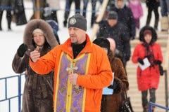 Ορέλ, Ρωσία - 19 Ιανουαρίου 2016: Ρωσική epiphany γιορτή Orthodo Στοκ Φωτογραφία