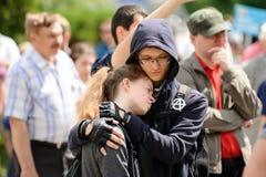 Ορέλ, Ρωσία, στις 12 Ιουνίου 2017: Διαμαρτυρίες της Ρωσίας Νέοι διαμαρτυρόμενοι χ Στοκ εικόνες με δικαίωμα ελεύθερης χρήσης