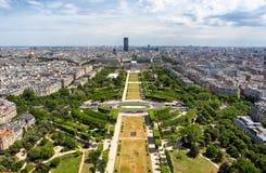 Ορίζοντας άποψης του Παρισιού από τον πύργο του Άιφελ, Παρίσι, Γαλλία Στοκ φωτογραφία με δικαίωμα ελεύθερης χρήσης