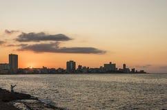 Ορίζοντας Αβάνα ηλιοβασιλέματος Στοκ φωτογραφίες με δικαίωμα ελεύθερης χρήσης