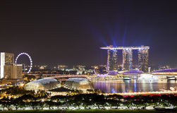 Ορίζοντας βραδιού Σινγκαπούρης Στοκ φωτογραφία με δικαίωμα ελεύθερης χρήσης