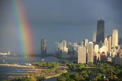 Ορίζοντας βόρεια πλευρών του Σικάγου Στοκ Εικόνες