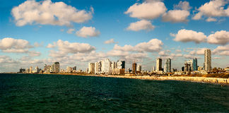 Ορίζοντας Ισραήλ του Τελ Αβίβ Στοκ εικόνα με δικαίωμα ελεύθερης χρήσης