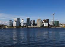 Ορίζοντας και κατασκευή του Όσλο Στοκ φωτογραφία με δικαίωμα ελεύθερης χρήσης