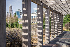 Ορίζοντας και περίχωρα πόλεων της βόρειας Καρολίνας του Σαρλόττα Στοκ Φωτογραφίες