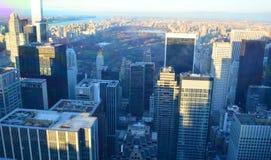 Ορίζοντας και Central Park της Νέας Υόρκης Στοκ εικόνα με δικαίωμα ελεύθερης χρήσης