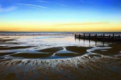 Ορίζοντας 2 κυματοθραυστών - Norfolk UK Στοκ Εικόνες