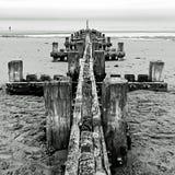 Ορίζοντας 3 κυματοθραυστών - Norfolk UK Στοκ εικόνες με δικαίωμα ελεύθερης χρήσης