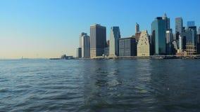 Ορίζοντας Μανχάταν NYC πόλεων της Νέας Υόρκης η Αμερική δηλώνει ενωμένο φιλμ μικρού μήκους