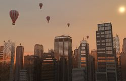 Ορίζοντας μπαλονιών Στοκ εικόνες με δικαίωμα ελεύθερης χρήσης