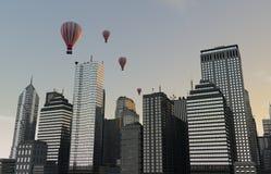Ορίζοντας μπαλονιών Στοκ φωτογραφία με δικαίωμα ελεύθερης χρήσης