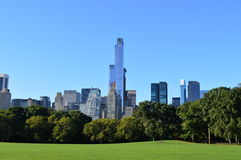 Ορίζοντας Νέα Υόρκη από το Central Park Στοκ Εικόνα