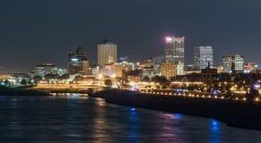 Ορίζοντας νύχτας της Μέμφιδας Τένεσι στοκ φωτογραφία με δικαίωμα ελεύθερης χρήσης