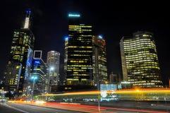 ορίζοντας νύχτας της Μελβούρνης στοκ φωτογραφία με δικαίωμα ελεύθερης χρήσης