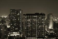 Ορίζοντας νύχτας της Μπανγκόκ Στοκ φωτογραφία με δικαίωμα ελεύθερης χρήσης