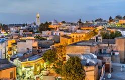 Ορίζοντας νύχτας της EL Kef, μια πόλη στη βορειοδυτική Τυνησία στοκ φωτογραφία