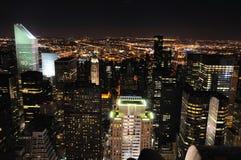 Ορίζοντας νύχτας του Μανχάτταν Στοκ εικόνα με δικαίωμα ελεύθερης χρήσης