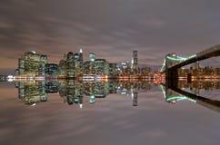 ορίζοντας νύχτας του Μανχ Στοκ Φωτογραφίες