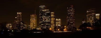 ορίζοντας νύχτας του Χιούστον Στοκ Φωτογραφίες