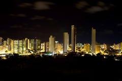Ορίζοντας νύχτας Joao Pessoa Στοκ Φωτογραφίες