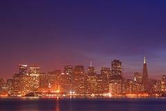 ορίζοντας νύχτας SAN Francisco Στοκ εικόνες με δικαίωμα ελεύθερης χρήσης