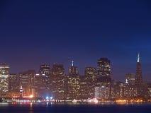 ορίζοντας νύχτας SAN Francisco Στοκ φωτογραφία με δικαίωμα ελεύθερης χρήσης