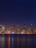 ορίζοντας νύχτας SAN Francisco Στοκ εικόνα με δικαίωμα ελεύθερης χρήσης