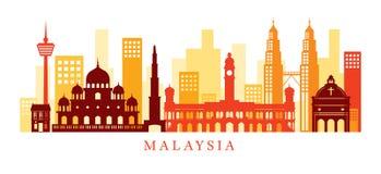 Ορίζοντας ορόσημων αρχιτεκτονικής της Μαλαισίας, μορφή Στοκ Φωτογραφία
